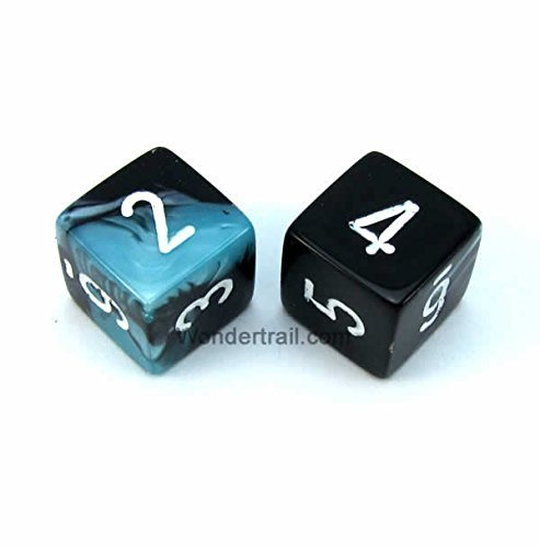 セール特価 WCXPG0646E2 Black Pack Shell Gemini Dice with with White Numbers D6 Chessex 16mm (5/8in) Pack of 2 Dice Chessex B00VWWWCHE, D-FORME:50b8fa94 --- egreensolutions.ca
