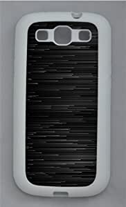 Abstract Black Graphite Lines TPU Silicone Rubber Case Cover for Samsung Galaxy S3 SIII I9300 White