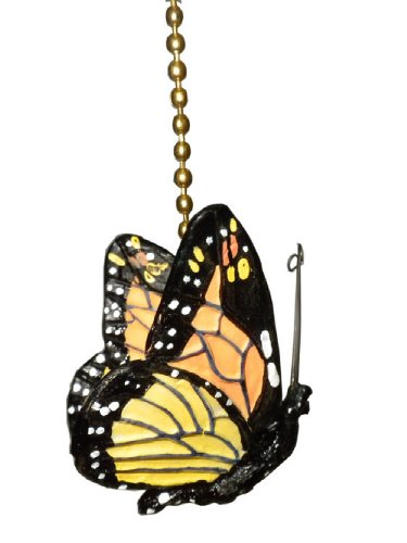 Ceiling Butterfly Pull Fan (monarch Butterfly Ceiling Fan Pull Chain Ornament Decor)