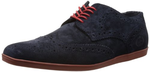 Base London  Shore, Chaussures de ville à lacets pour homme Bleu bleu