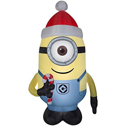 Illumination entertainment Despicable Me Minion Made Stuart inflatable Christmas decor 7.5 FT Tall -