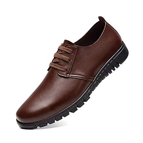 y Marrón Zapatos Formales de Oxford Zapatos Hombre Hollow Oxford Cuero de para Style Informal otoño de BBqa8Z1