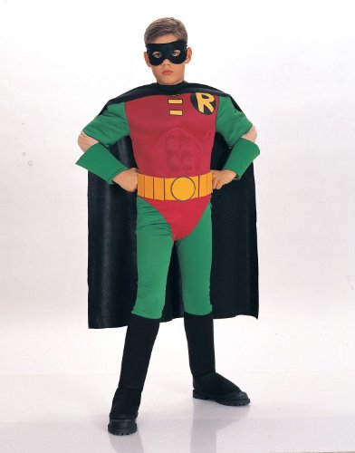 Robin Muscle Chest Deluxe Kids Costume -