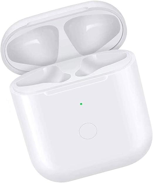 Reemplazo del estuche de carga inalámbrica Compatible con Auriculares 1 2 con botón Bluetooth (No incluye Auriculares, Compatible con todos los cargadores inalámbricos: Amazon.es: Electrónica