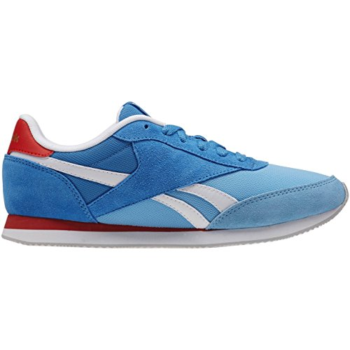 Reebok Royal Cl Jog 2hs, Zapatillas de Running Para Mujer Azul / Blanco / Rojo / Gris (Blue Splash / Ele Blue / Wht / Motor Red / Steel)