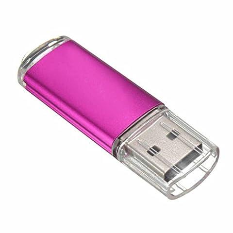 Aribelly USB 2.0 Metal Flash Memory Stick Storage Thumb U Disk 1gb/2gb/4gb/8gb/16gb/32gb (Hot Red, - Micro M2 Stick