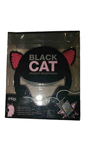 Ihip Black Cat Crochet headphones
