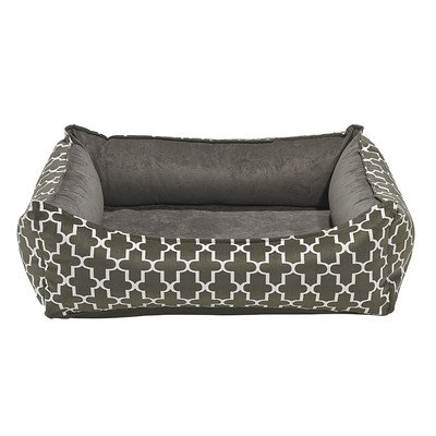 Oslo Ortho Dog Bed in Graphite Lattice (Small: 29 in. L x...