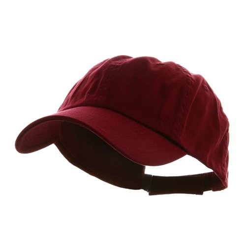 Wholesale Low Profile Dyed Soft Hand Feel Cotton Twill Caps Hats (Wine) - 21214 ()