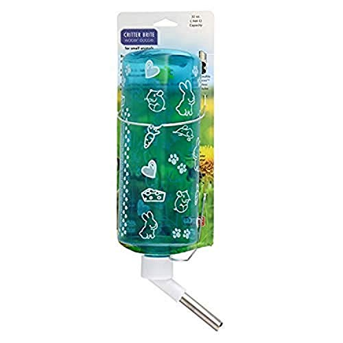 Lixit 32 oz Water Bottles for Rabbits (Critter Brights)