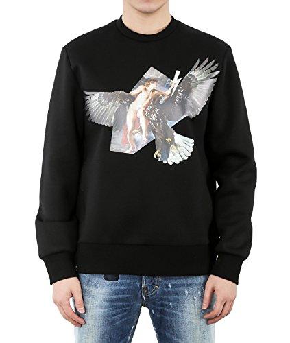 wiberlux-neil-barrett-mens-neoprene-hybrid-print-side-zip-sweatshirt-s-black