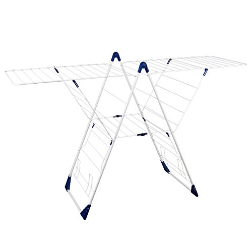Drynatural Drying Rack Folding Extra Large Gull Wing Cloth Airer with 85ft Drying Space for Outdoor (Tower Airer)