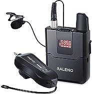 RALENO Micrófono inalámbrico Lavalier, UHF, micrófono de solapa inalámbrico, buena opción para Sony, Canon, Ni