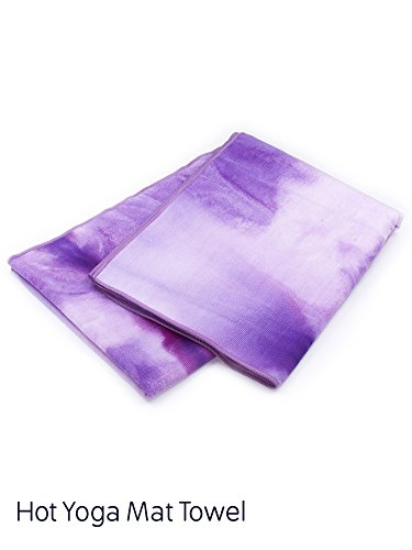 APANA Fitness Hot Yoga Tie Dye Mat Towel, Petunia