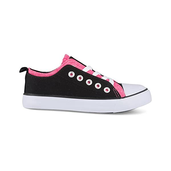 Twisted Girl's Canvas KIX Double Upper Lo-Top Sneaker