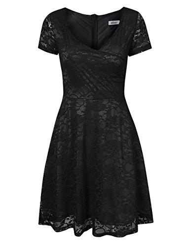 Women Summer Casual Cocktail Dress Black - 8