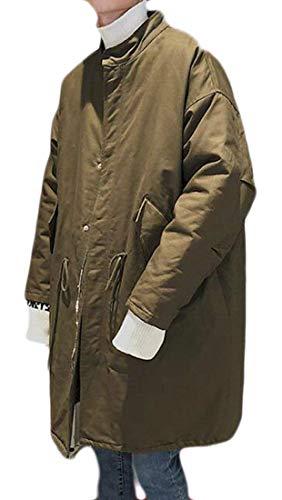 Col De Hommes Pour Kangqi Army À Matelassée Veste Green Homme Montant Vêtements qzpz0wnxET