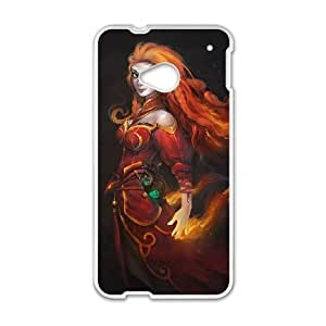 Dota 2 HTC One M7 Cell Phone Case White persent xxy002_6923552