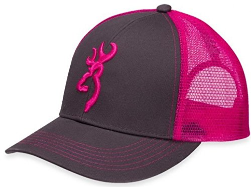 Browning Flashback Cap,Charcoal/Neon Pink