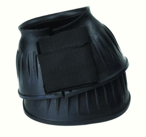 Double Velcro Bell Boots (Perri's Double Velcro Bell Boots, Black, Large)