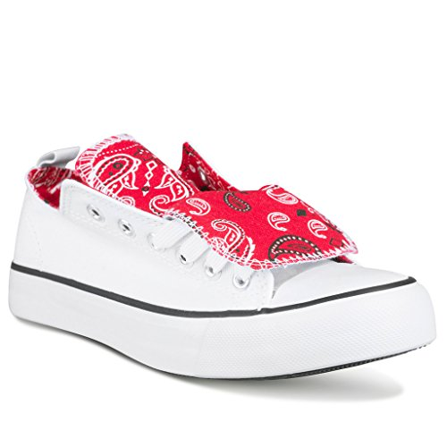 twisted-womens-kix-printed-double-tongue-fashion-sneaker-white-red-size-8