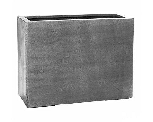 Large Indoor Outdoor Planter Pot Grey Rectangular 28H X 15 W X