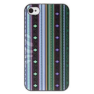 Retro Ethnic Flowers Pattern Matte PC Hard Case for iPhone 4/4S