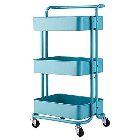 Amazon.com: Carrito de 3 niveles con ruedas, estante de ...