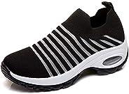 LIN&LE Women's Walking Shoes Sock Sneakers - Mesh Slip On Air Cushion Lady Girls Modern Jazz Dance Eas