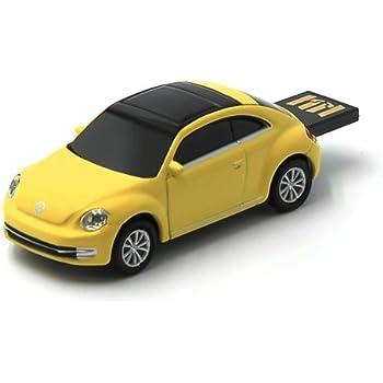 AutoDrive Volkswagen VW The Beetle (Yellow) 8 GB USB Flash Drive, Scale 1:72