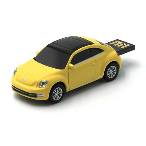 (AutoDrive Volkswagen VW The Beetle (Yellow) 8 GB USB Flash Drive, Scale 1:72)