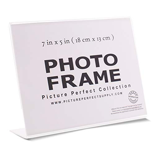 7x5 Photo Frame Clear Acrylic Picture Frame Horizontal Sign Holder 7 x 5 (12) ()