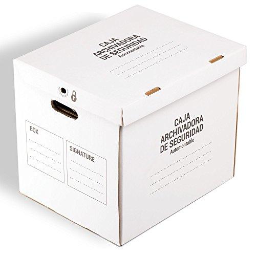 Pack de 5 CAJAS ARCHIVADOR SEGURIDAD TeleCajas (x5) TCAS374640 Automontable con Tapa y Asas para Archivos Definitivos (x5 unidades): Amazon.es: Oficina y ...