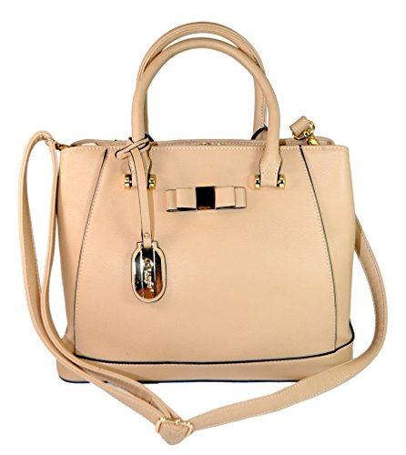 Authentic Brangio (Italy) Helix Bow Purse W/ Luxury Logo Badge & Multi-Pocket Interior/Exterior!:TN8723-TN ()