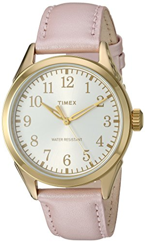 Timex Women's TW2P99100 Briarwood Terrace Light Pink Leather Strap Watch ()