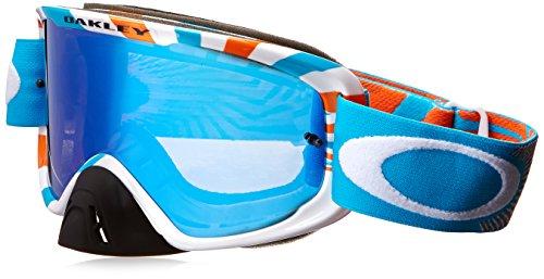 Oakley O2 MX Men's Goggles (RPM Orange Blue Frame/Ice Iridium - Prescription M Frame Oakley