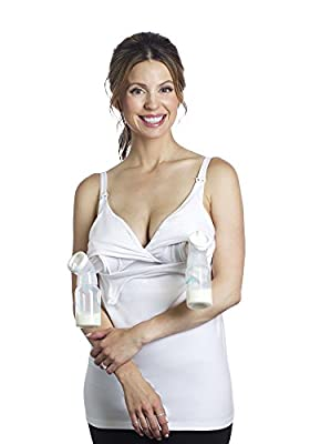 Essential Hands-Free Pump&Nurse all-in-one Nursing Tank with built in hands-free pumping bra