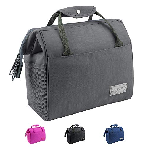 (Insulated Lunch Bag,Reusable Lunch Tote,Larger Capacity Lunch Box for Men&Women,Adult Lunch Bag(Advanced Grey))