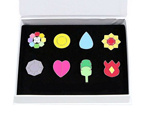 - OLIA DESIGN Gym Badges League Pin Gen Set, 8 Pieces