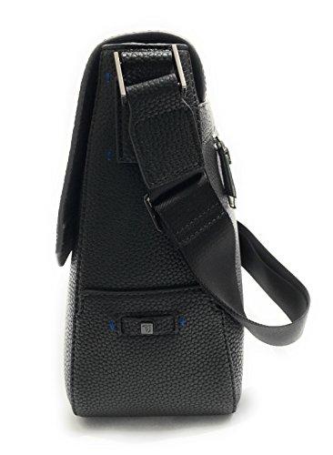 Trussardi Jeans - Bolso al hombro para hombre negro negro