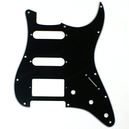 A44Custom-Guitar-Pickguard-For-Strat-HSS-Layout-style-3ply-Squared-Black