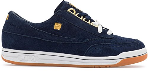 Fila Men's Original Tennis Casual Sneakers Blue Suede 11 M