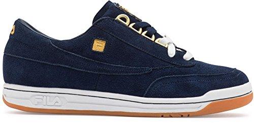 Fila Men's Original Tennis Casual Sneakers Blue Suede 11 M