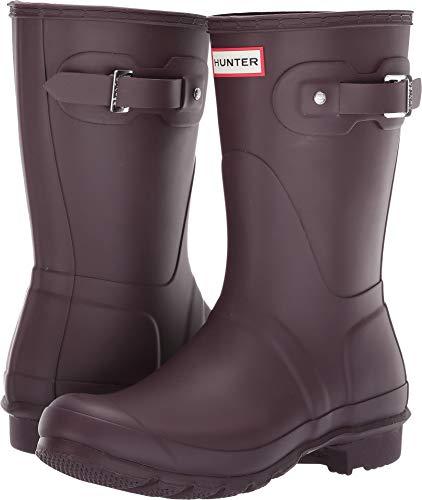 Hunter Women's Original Short Rain Boots Black Grape 8 M US - Buckle Womens Multi
