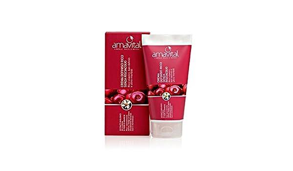 Amavital – Crema definidora de rizos, sin enjuague, para pelo rizado y ondulado: Amazon.es: Belleza