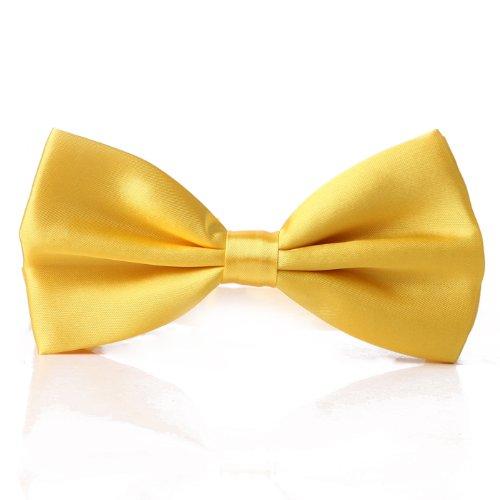 Bowtie Adjustable Yellow Satin Wedding Party Tuxedo Polyester Tied Pre HDE 8zqxnUFx