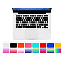 """HRH Black EU/UK Keyboard Cover Silicone Skin for MacBook Air 13 and MacBook Pro 13"""" 15"""" 17"""" (with or w/out Retina,Not Fit 2016 Macbook Pro 13 15 with/without Touch Bar)"""