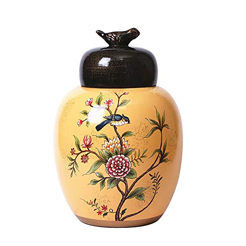 Anding Ceramic Vase, Creative Home Decoration, Home Decor Tall Storage Tank, Vase Holder Chinese Vase (LYK012-2) ()