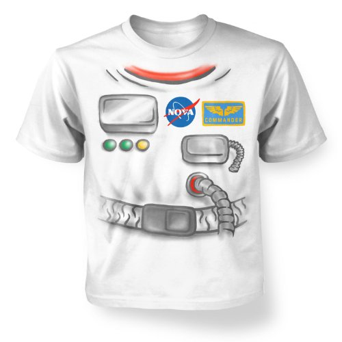 [Astronaut Costume Kids T-shirt - White M (7-8)] (Boys Frankenstein Costumes)