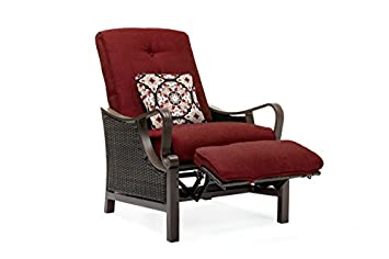 Hanover Outdoor Ventura Outdoor Luxury Recliner, Crimson Red